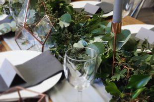 christmas table garland-eucalyptus garland