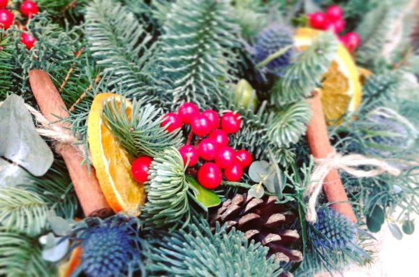 traditional christmas wreath making kit