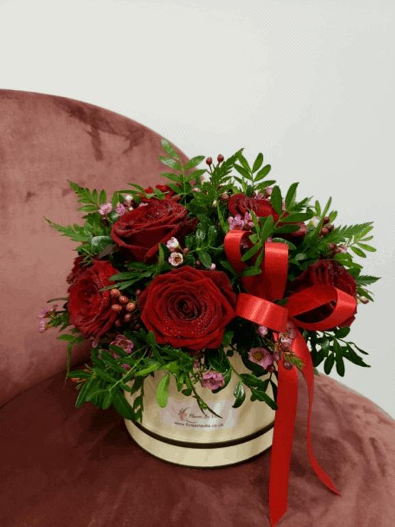 Rose Hat Box