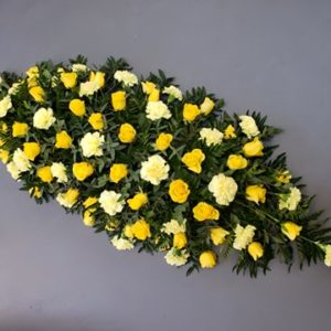 yellow rose and carnation spray