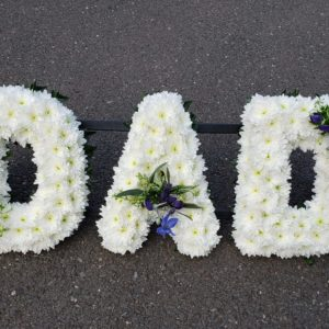DAD Flower tribute-funeral flowers-torbay