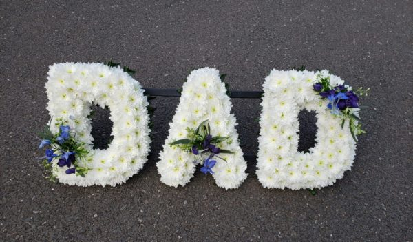 DAD Flower tribute-funeral flowers-torbay