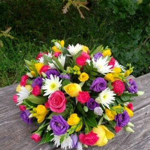 Bright and Beautiful flower posy-funeral flowers-torbay-florist