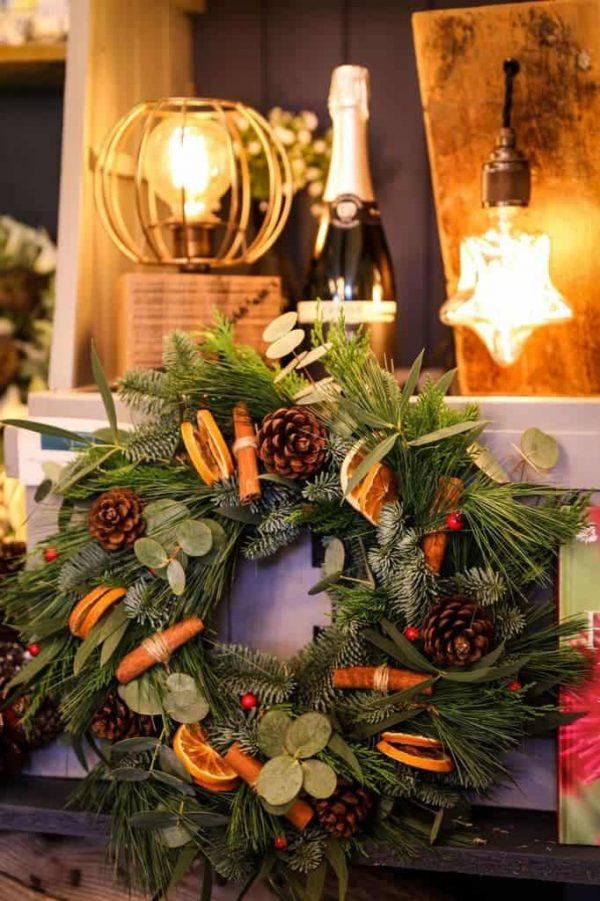 christmas luxury wreath-eucalyptus-wreath-door decor-making kit