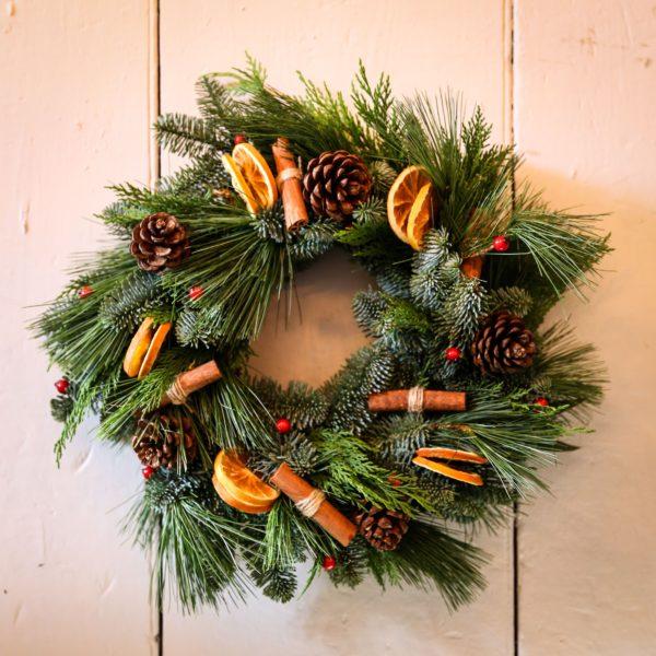 door wreath-christmas-wreath making kit