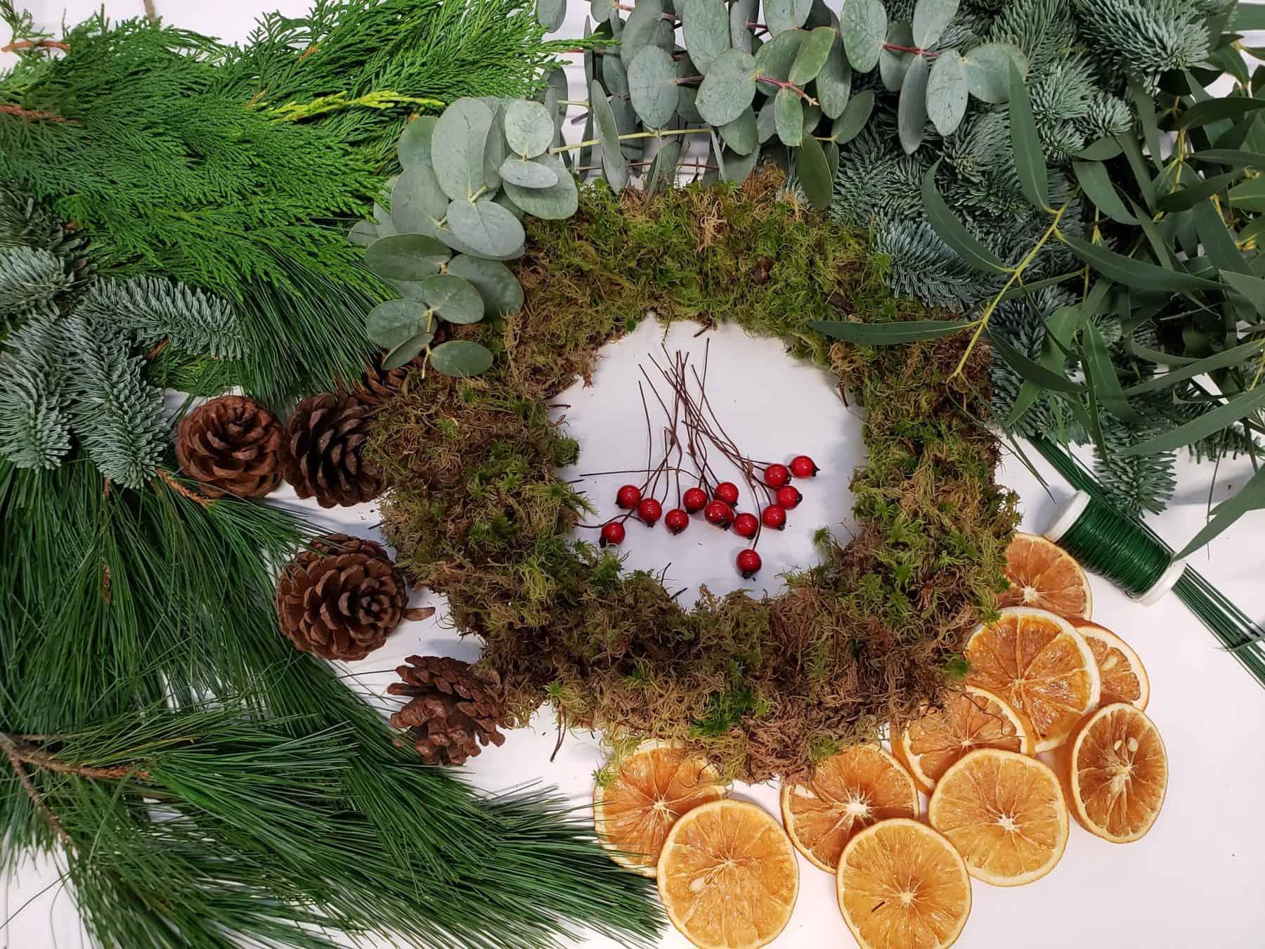 Luxury Diy Christmas Wreath Making Kit Flower La Vita Florist