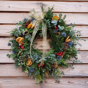 door wreath-christmas wreath
