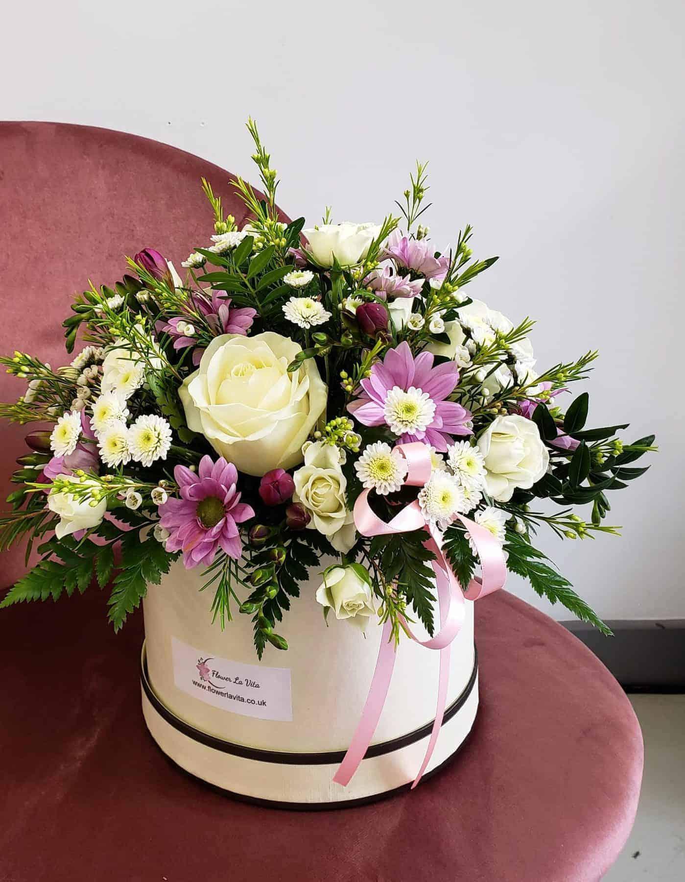 mothers day-flowers-torquay-paignton-florist-hatbox
